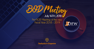 BOD Meeting July 14 @ 3525 Grapevine Mills Pkwy, Grapevine
